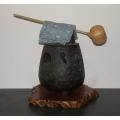 Starožitné japonské kamínka na ohřev vody pro Čado 1