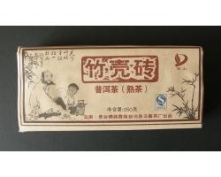 Archivní shu pu-erh cihla Jing Gu 2008 Jin Fu TF 250g