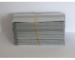 Čajový sáček malý stříbrný 5,5x12,5cm 100ks